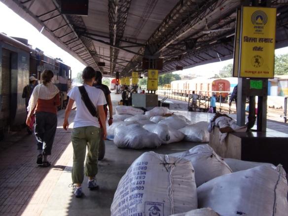 Andenes de la estación de Pushkar