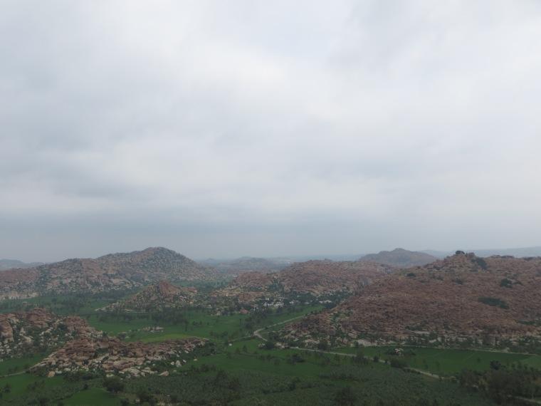 Vistas de Hampi desde el templo de los monos