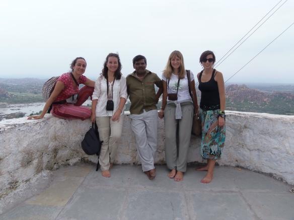Templo de los monos con Guiri