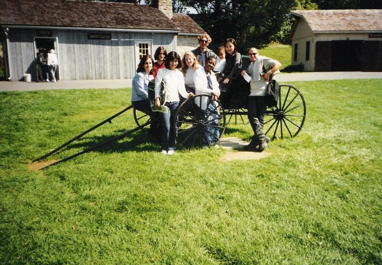 Posando en grupo na rexión dos Amish