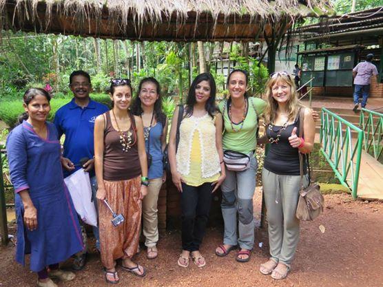 Nuestro grupo para visitar la granja de especias ;)