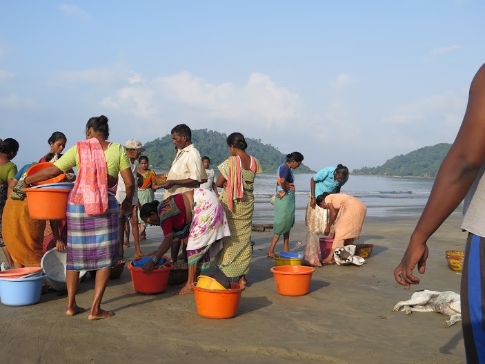 Playa de Goa al amanecer/ Foto Mónica