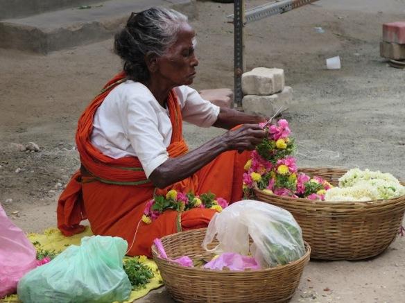 vendedora de flores Foto Mayca