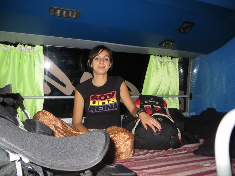 Bárbara coo una reina en el autobús ;)
