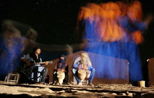 La noche en el desierto