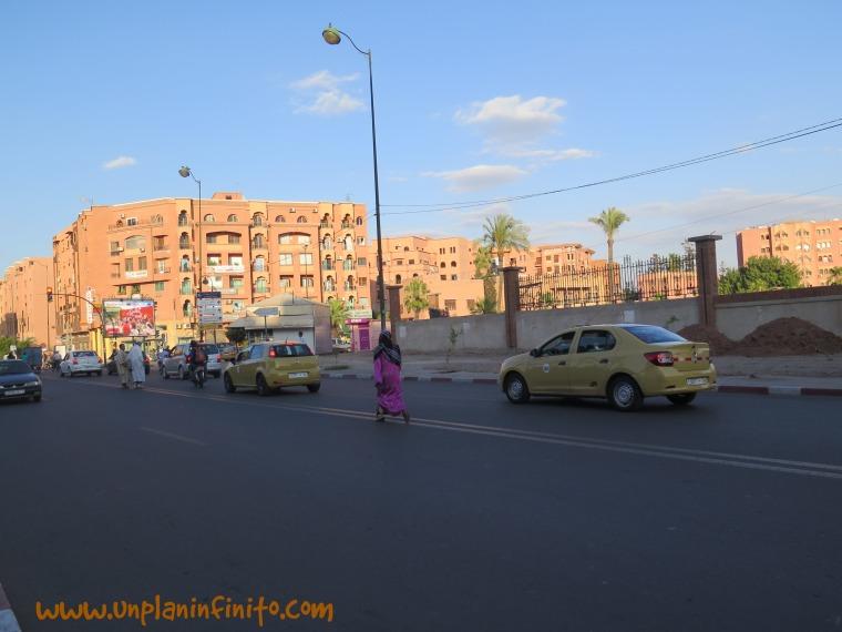 Calles de la parte nueva de Marakech