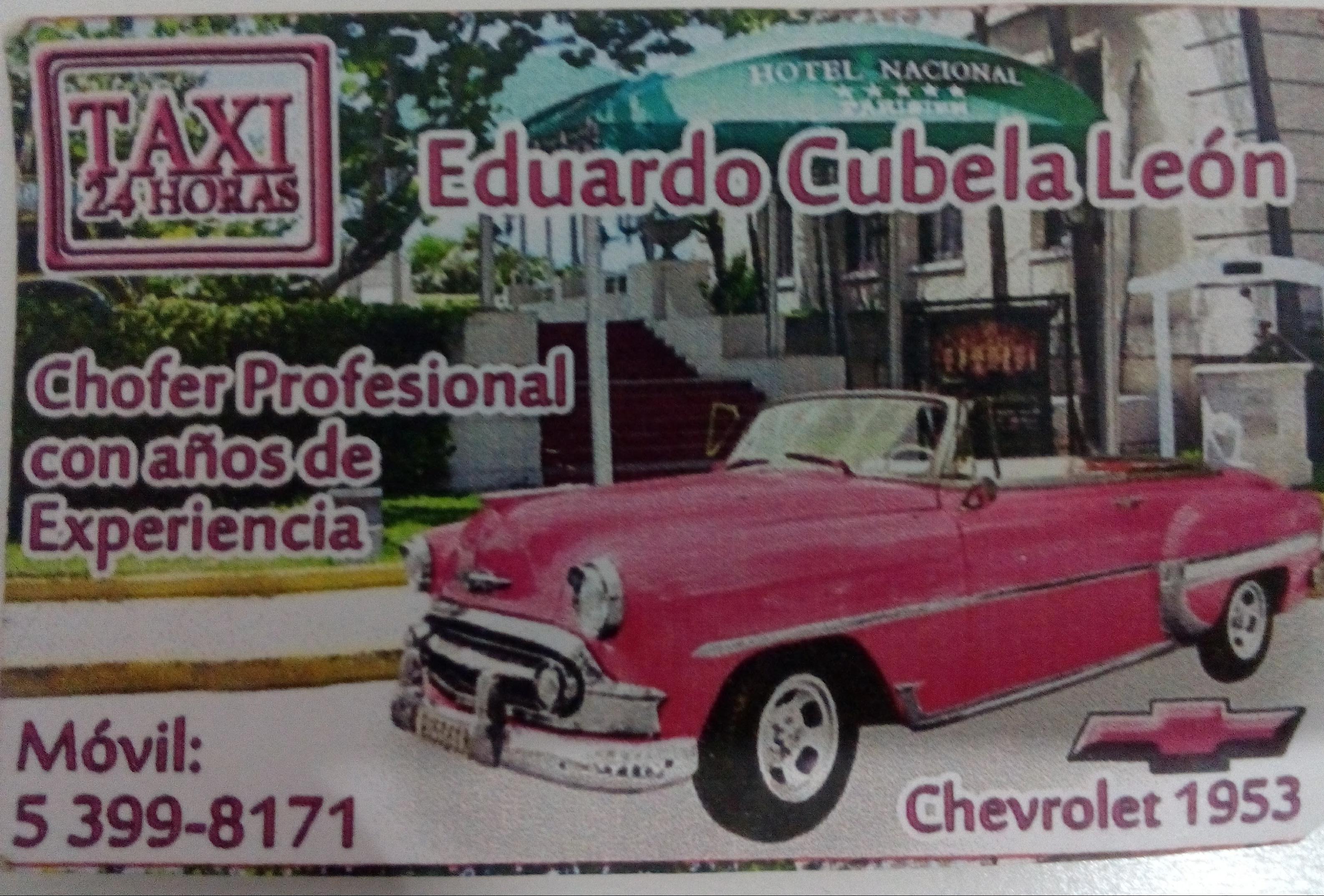 Eduardo Cubela, el mejor chofer en la habana
