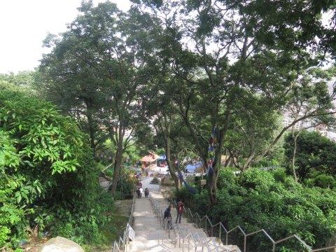 Escaleras del templo de los monoss