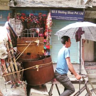 bici taxi o rickshaw en kathmandu