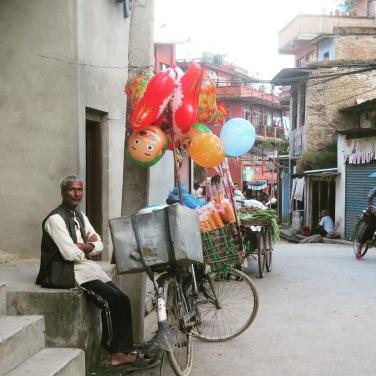 vendedores de globos