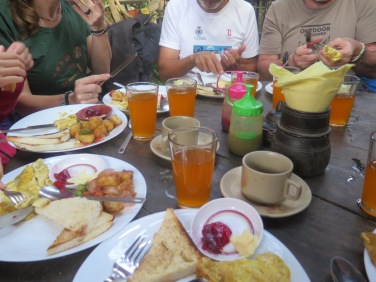 Desayuno en Nagarkot