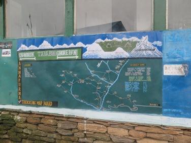 mapa del trekking