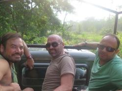 Ángel, Antonio y Vicente en el parque