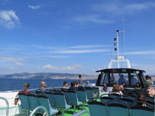 catamarán por la ría de Vigo