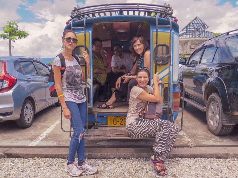 Tuk tuk en Chiang Rai