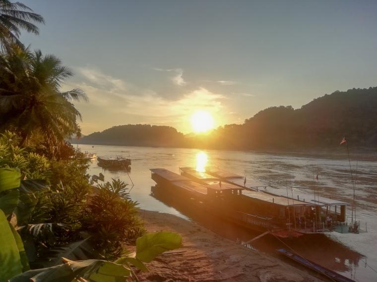 Puesta de sol en Luang Prabang