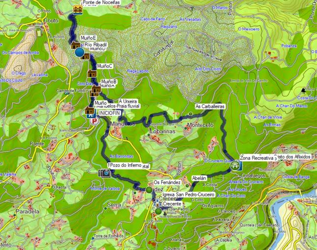 Ruta do Río Ribadil, Crecente