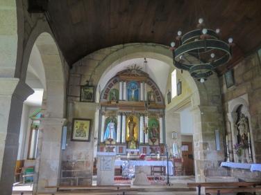 Interior da igrexa