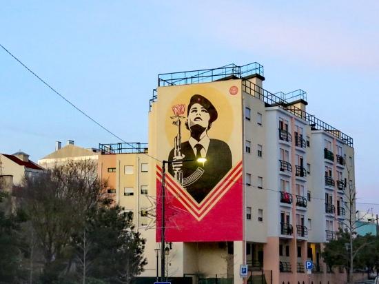 Shepard Fairey, street art Lisboa