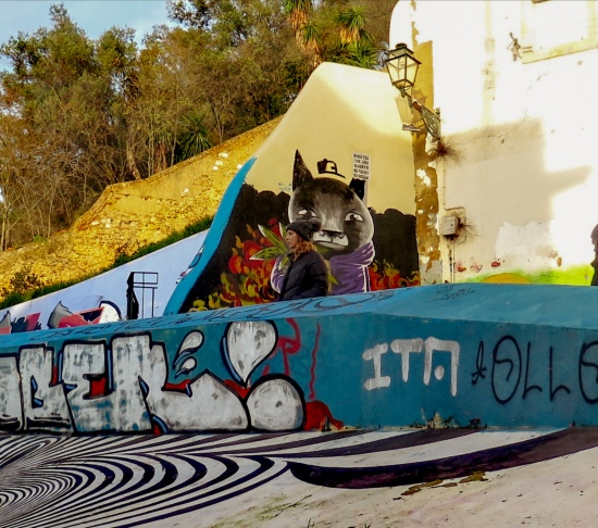 street art Lisboa, Graffiti en Caracol da Graça